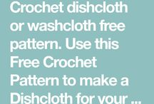 Washcloth/Dishcloth crochet pattern