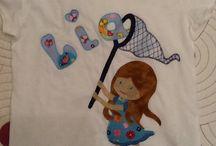 camisetas / camisetas con aplicaciones de tela