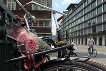 fiets met bloemen