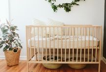 Natural decor baby room