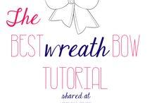 Bow Wreath Tutorials / by Mandy Naranjo