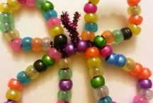 Kid crafts with beads