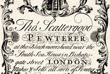 18th century business cards