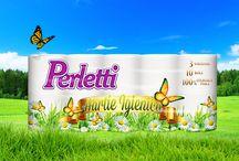 Perletti / Perletti este gama completă de produse din hârtie pentru uz casnic și personal. Aceste produse, se remarcă prin ambalajele atrăgătoare, dar mai ales datorită calității desăvarșite.