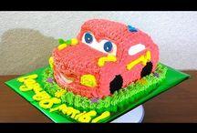 tortas en forma de carro