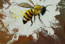 Bees, Birds and a Stalker - Original Paintings