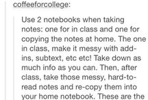 Study/notes tips