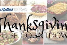 Thanksgiving Recipe Countdown / Tis the season for delicious food and gatherings with family, friends and neighbors. Cooking doesn't have to be hard or overwhelming - just stock your pantry with READ salads and Aunt Nellie's veggies and you're well on your way to delicious dishes!