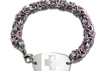 Chain Mail / Beautiful hand-woven chain mail medical ID bracelets