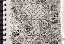 Tangle  - Paisley / Zentangle Inspiration - Paisley
