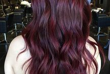 dark red/bordeaux hair