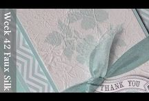 Faux silk cards / Arty cards