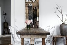 Vintage rustic tables