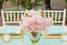 Мятно-розовое