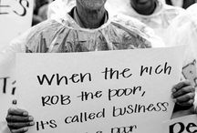 Rich and poor / Be grateful for the things you have because their are others out there that are less fortunate