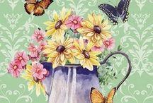 butterfly pot