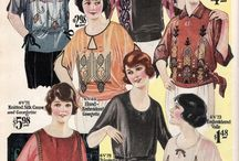 Inspiration for 1910s & 1920s blouses / Inspiration for different styles of 1910s and 1920s blouses I want to make