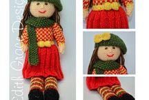 Doll Knitting Patterns Love Knitting Store / http://www.edithgracedesigns.com