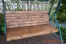 качель, сиденье вместо тента / Как сделать деревянное сиденье вместо старого тента