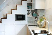meuble escalier / meubles cuisine encastres sous escalier