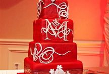 Cakes: Rossi Dolci / My husband &I had a red wedding, with the bridesmaids in red dresses, the groomsmen in red shirts with white ties, red flowers, and even a red trolley!  Therefore I have a thing for red wedding cakes...  Also, in Chinese culture, the color of red signifies good luck, love, joy and prosperity, which is why red is central to Chinese weddings. The bride's gown is often red, as are the invitations, gift boxes or envelopes. Even the bride and groom's homes are decorated in red on the wedding day. / by Lauren Schultz