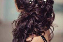 Wedding hair inspiraatiota