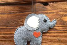 elefantes fieltro