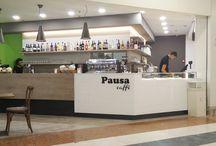 Pausa Caffè C.Commerciale Val Vibrata / Arredamenti per locali realizzati:Pausa Caffè Centro Commerciale Val Vibrata