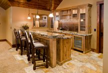 Man Caves with Woodworking Details / Need a special spot all your own? Check out these man caves with woodworking details, and some ideas for woodworking projects.