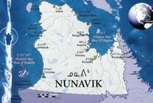 Nunavik communities / The vast area of Northern Québec now known as Nunavik [the place where we live] extends over 560,000 square kilometres. For approximately 4000 years, various human groups occupied this territory. The Inuit arrived in the Canadian Arctic 700 to 800 years ago and now inhabit the entire circumpolar region. Today, there are 14 villages in Nunavik.