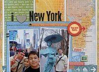 Travel scrapbook layout ideas