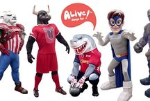 Custom Mascots / ALIVE Mascots is specialized in the design, manufacturing, creation and distribution of the best mascots for all types of industries and marketing events: social events, sports, trade shows franchise and licensing, shopping centers, zoo's, aquariums, sporting & social events, hotels and children's entertainment.
