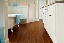 Bathroom laminated flooring