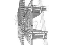 Construction detail - 3d view - facade