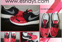 Custom Nike Roshes / Nike has come out with a great comfortable shoe called Nike Roshe Run. As a shoe customizer we love Roshes and can place almost any print on them. This is a collection of different print/ designs on a pair of  Nike Roshes. Get a pair  for Women, Men and Kids on Sale at Eshays.