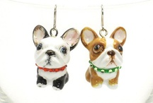 Earrings French Bulldog