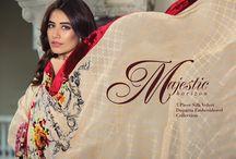 Majestic Horizon   3 Piece Silk Velvet Dupatta Collection