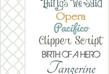Free fonts / by Kathie Maltby