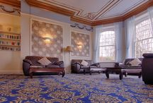 Renovated Lounge & Dining Room at Luccombe Manor