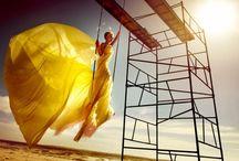 Parachute Fashion Shoot