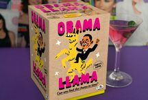 """Obama Llama - A Party Trivia Rhyming Charades Card Board Game / Obama Llama is a Party Trivia Rhyming Charades Card Board Game.   The ridiculous rhyming charade game with the weird-sounding name. Players must try their best to describe such rhymes as """"Lorraine Kelly eating jelly"""" and """"Obama riding a llama"""" to their team by either acting them out, reading a riddle or attempting to explain them in their own words. Great at a party, family gathering or as a birthday present or gift for Christmas!  Buy now from Amazon: http://www.amazon.co.uk/dp/B018SRUCXQ"""