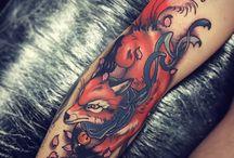fox art tattoo