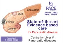 Pancreas problems / An enlarged pancreas can occur for many reasons. The pancreas is a gland that sits behind your stomach in the upper abdomen and helps with digestion. It produces enzymes that are secreted into the small intestine, digesting protein, fat, and carbohydrates. The pancreas also produces insulin to help regulate blood sugar (glucose), the body's main source of energy.