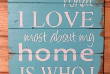 Farmhouse style decor and signs