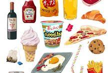 Mat Illustrasjoner