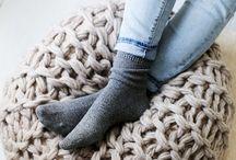 Foot Stools Knit/Crochet