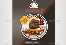 Restaurant / Lokanta Broşür Örnekleri / Restaurant / Brochure Samples