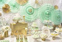Mettalic party / Mettalic, shiny party decor ideas