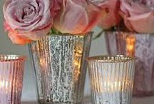 chamonix wedding mercury glass  / the reason im showing u this type of glass decoration for flowers/candles is because I have tonnes left from my wedding if you want to use them