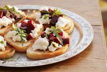 Appetizers - Bruschetta, Crostini, Tartines, Toasts / Appetizers and brunch bruschettas and tartines